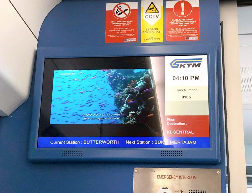 マレー鉄道のテレビ