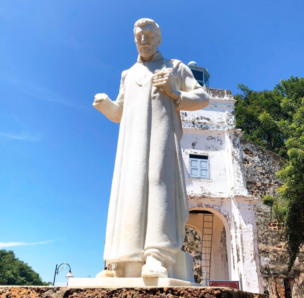 セント・ポール教会のザビエル像