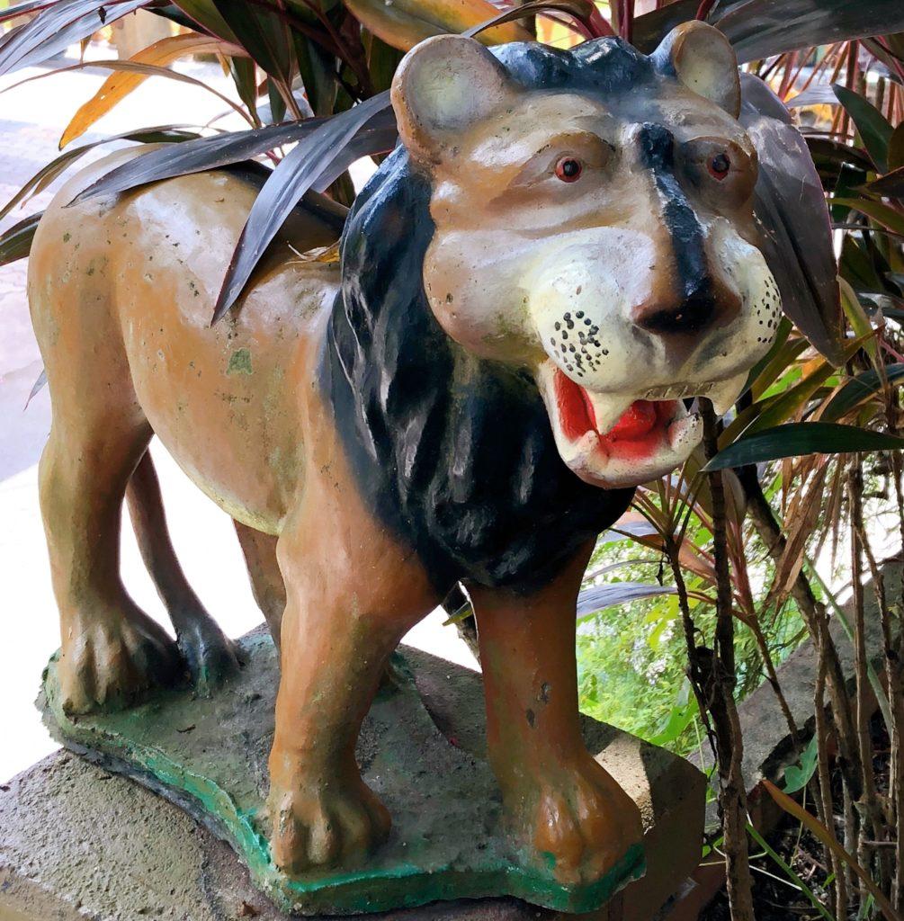 ジョホール動物園にあるライオンの置き物