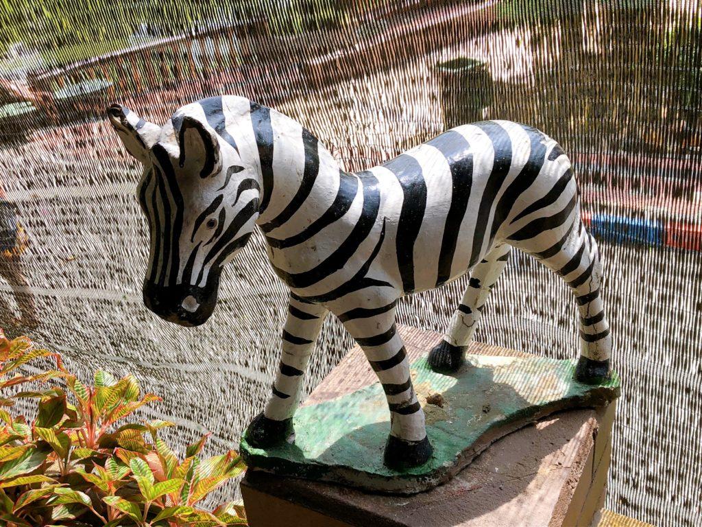 ジョホール動物園にあるシマウマの置き物