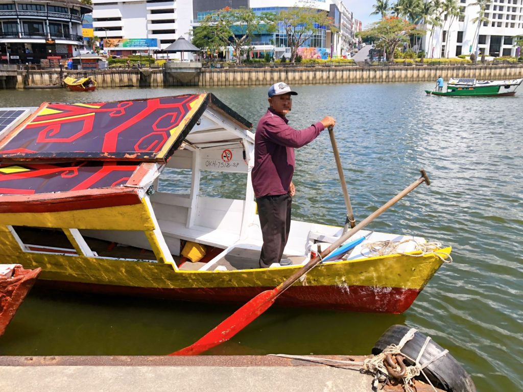 サラワク川の渡し舟