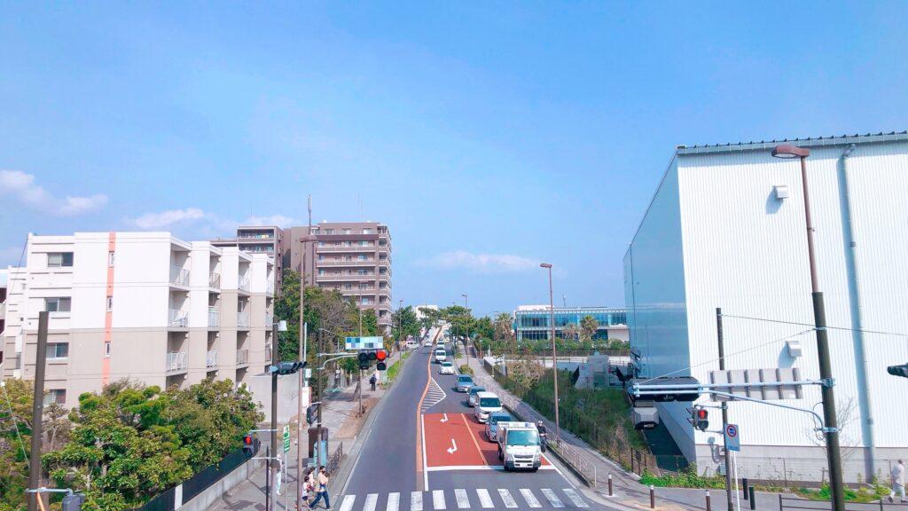 歩道橋からの景色